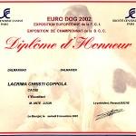 Coppola EUROPENA WINNER '02 diploma